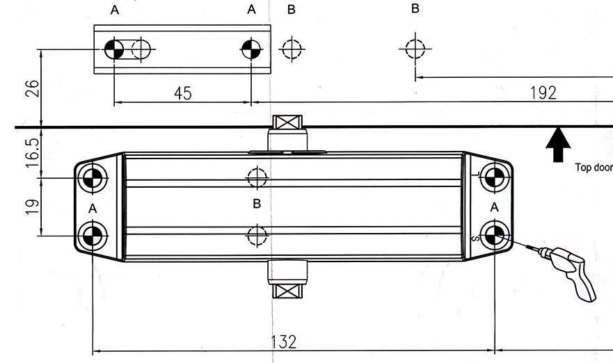 Доводчик дверной Нора-М №3S F 80кг Gold 13705